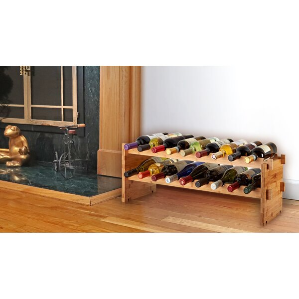 18 Bottle Floor Wine Bottle Rack by AdirHome AdirHome