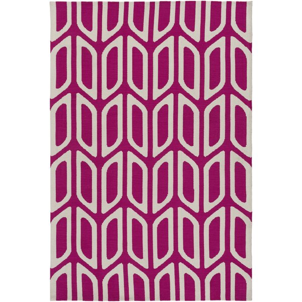 Blohm Hand Tufted Hot Pink Area Rug by Wrought Studio