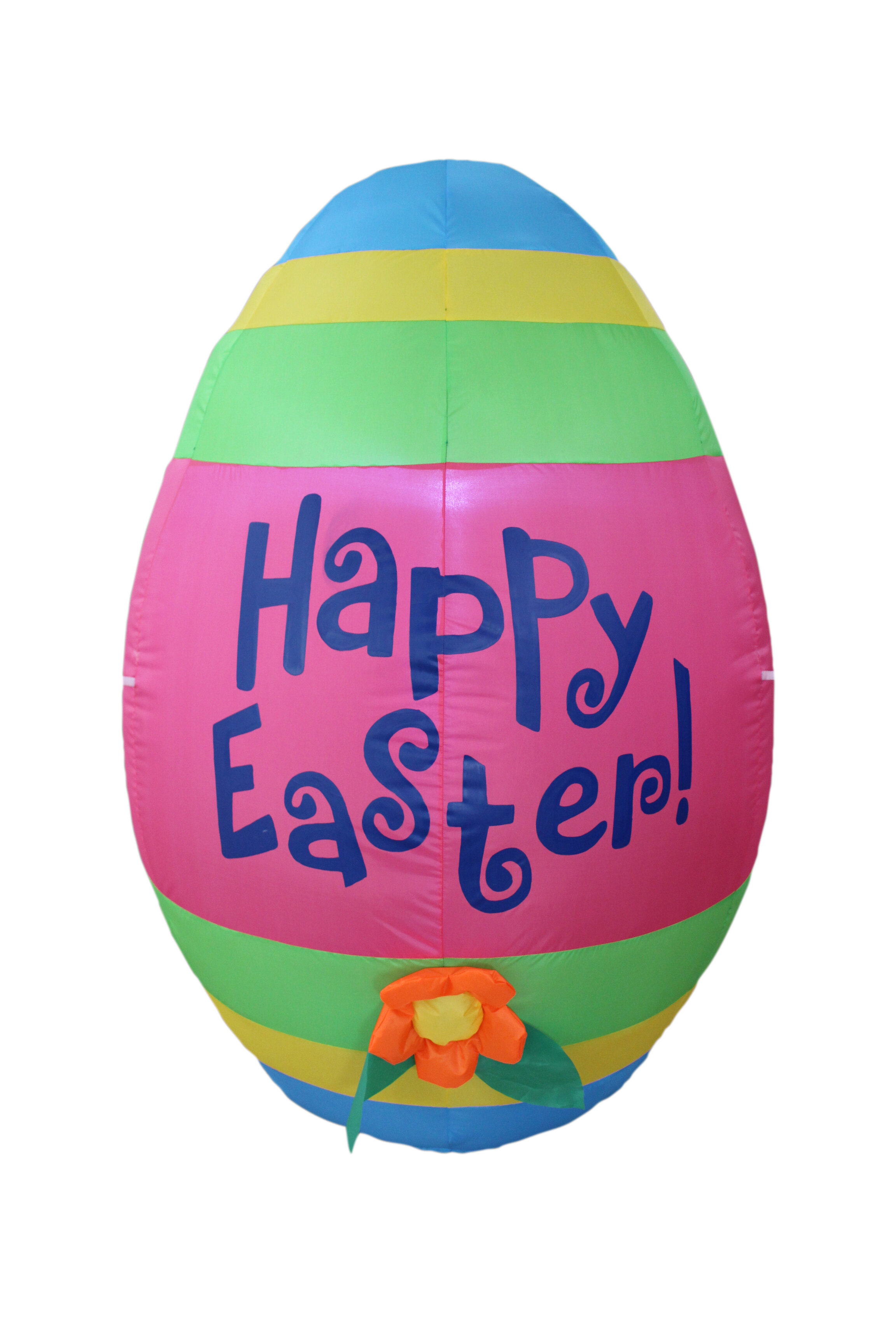 The Holiday Aisle® Inflatable Cute Colorful Giant Easter Egg with Flower  Decoration & Reviews | Wayfair