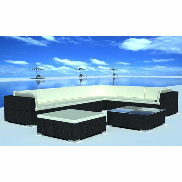 Roundtree Garden 24 Piece Rattan Sofa Seating Group with Cushions by Orren Ellis