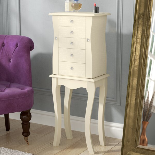 Ronna Free Standing Jewelry Armoire with Mirror by House of Hampton