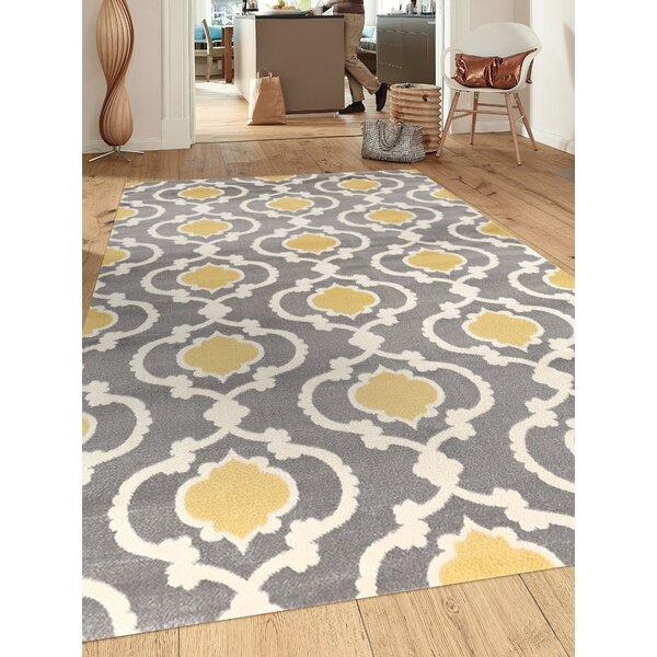 Andover Mills Melrose Geometric Gray Yellow Area Rug Reviews Wayfair