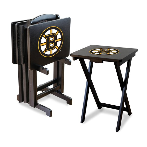 NHL TV Trays with Stand (Set of 4) by Imperial Int