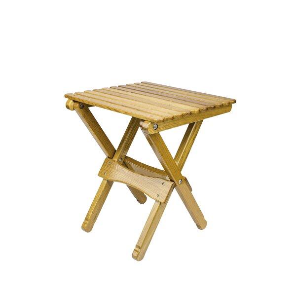 Renard Folding Solid Wood Side Table by Loon Peak