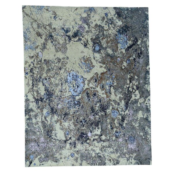 One-of-a-Kind Abstract Hand-Knotted Gray/Ivory Area Rug by Williston Forge