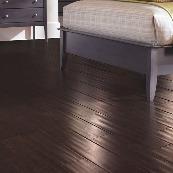 Kendra 5 Engineered Maple Hardwood Flooring in Matte Glossy Cognac by Welles Hardwood