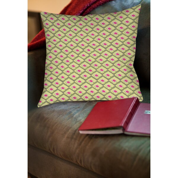 Butterfly Diamond Printed Throw Pillow by Manual Woodworkers & Weavers