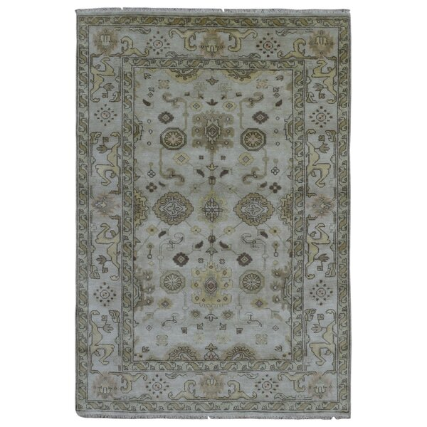 One-of-a-Kind Mitchel Oriental Hand-Woven Wool Gray Area Rug by Darby Home Co