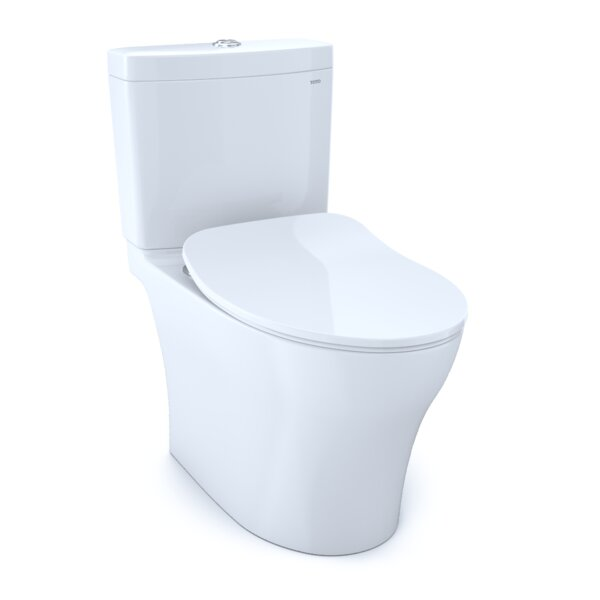 Aquia® IV Dual-Flush Elongated Two-Piece Toilet with High Efficiency Flush (Seat Included) by Toto