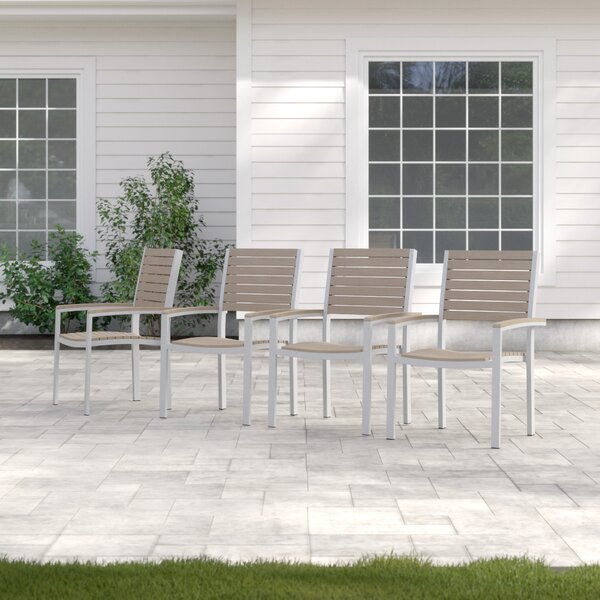 Caspian Stacking Patio Dining Chair (Set of 4) by Sol 72 Outdoor Sol 72 Outdoor