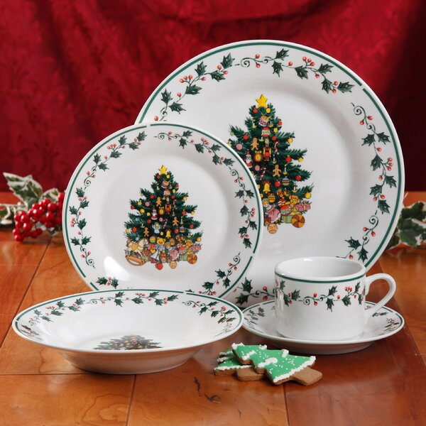 Tree Trimming 20 Piece Dinnerware Set by Gibson