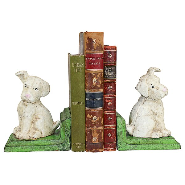 Wheaten Scottish Terrier Dogs Cast Iron Sculptural Bookends (Set of 2) by Design Toscano