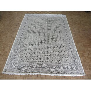 Josephson Herati Hand-Knotted Wool Ivory Area Rug by Canora Grey