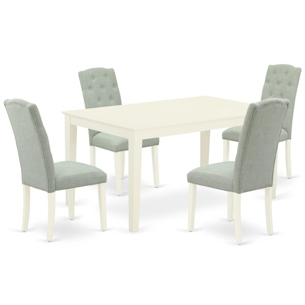 Gilley 5 Piece Solid Wood Dining Set By Ophelia & Co.