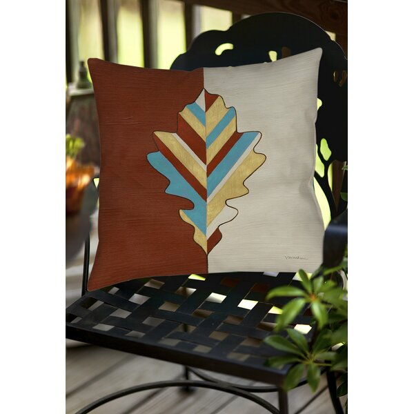 Apache Leaf 4 Indoor/Outdoor Throw Pillow by Manual Woodworkers & Weavers