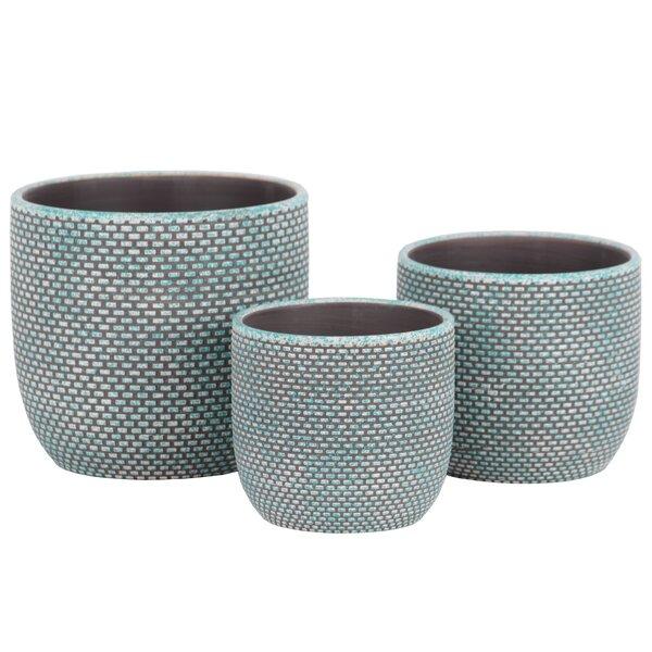 Rech Round 3-Piece Terracotta Pot Planter Set by Bungalow Rose