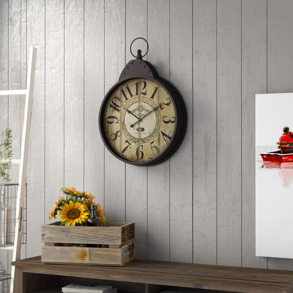 Wilksboro Oversized Fascinating Styled Berlin Metal Wall Clock by Trent Austin Design