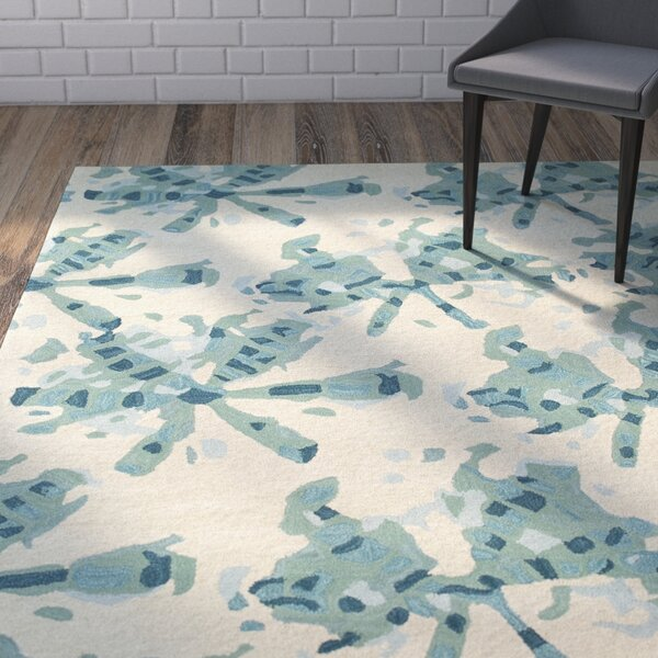 Schafer Hand Tufted Beige/Green Area Rug by Wrought Studio