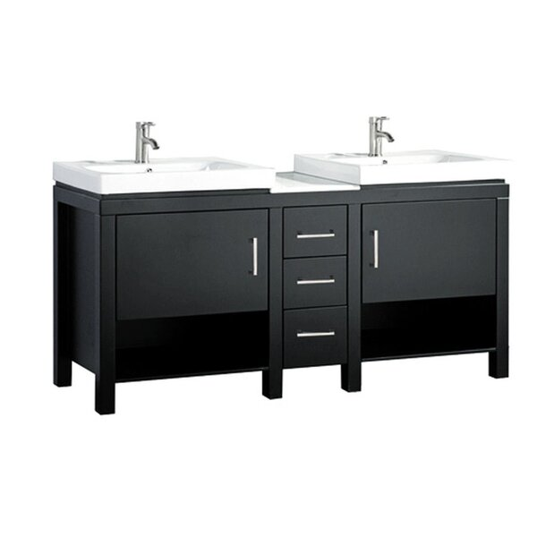 Pouliot Modern 60 Wood Base Double Bathroom Vanity Set by Orren Ellis