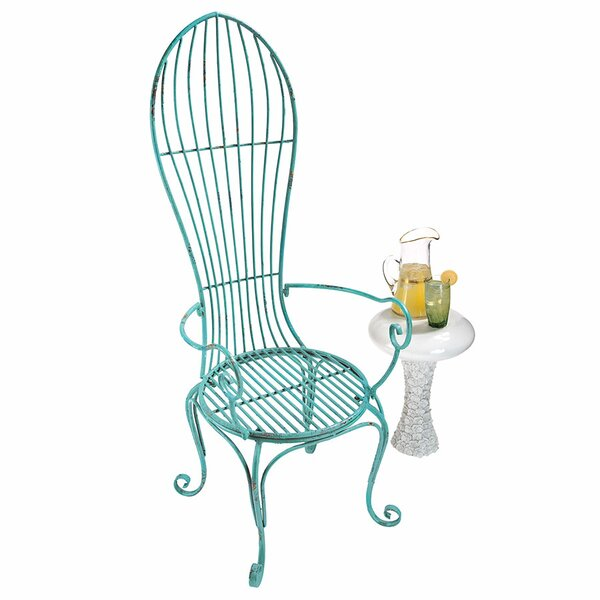 Balloon Back Metal Garden Arm Chair (Set of 2) by Design Toscano