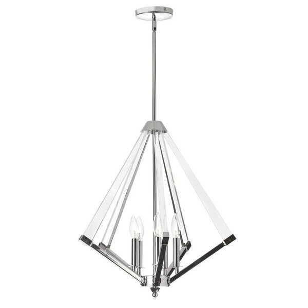 Altlass 5 - Light Unique / Statement Geometric Chandelier With Antler Accents By Radionic Hi Tech