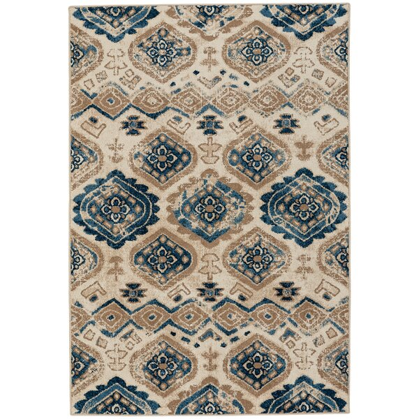 Dotsero Taupe/Blue Indoor/Outdoor Area Rug by Loon Peak