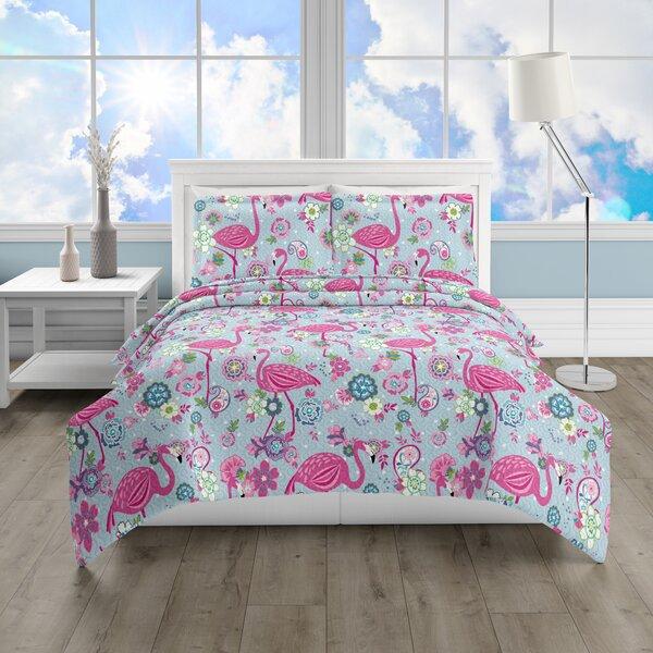 Arlo Flamingo Bay Reversible Quilt Set by Harriet Bee