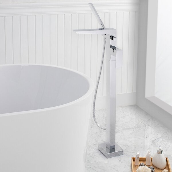 Edinburgh Single Handle Floor Mounted Freestanding Tub Filler with Handshower by Maykke