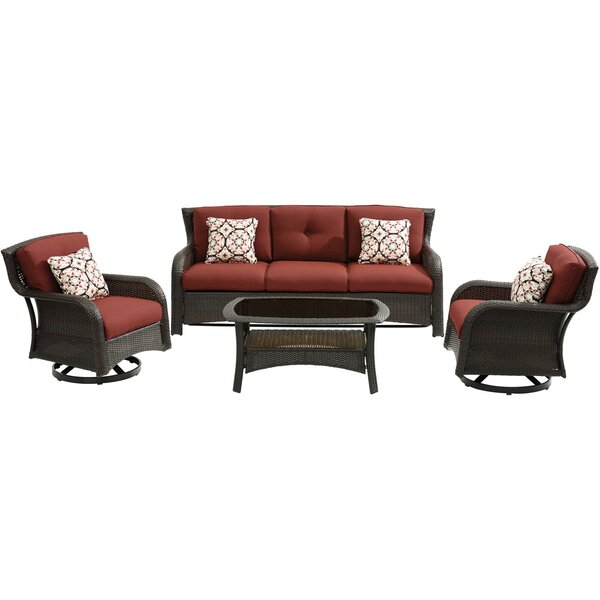 Asherman 4 Piece Sofa Seating Group with Cushions by Sol 72 Outdoor