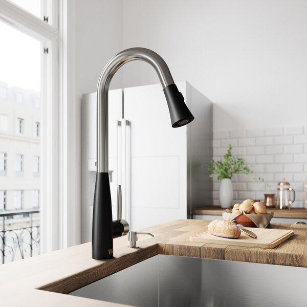 Milburn Pull Down Single Handle Kitchen Faucet by VIGO