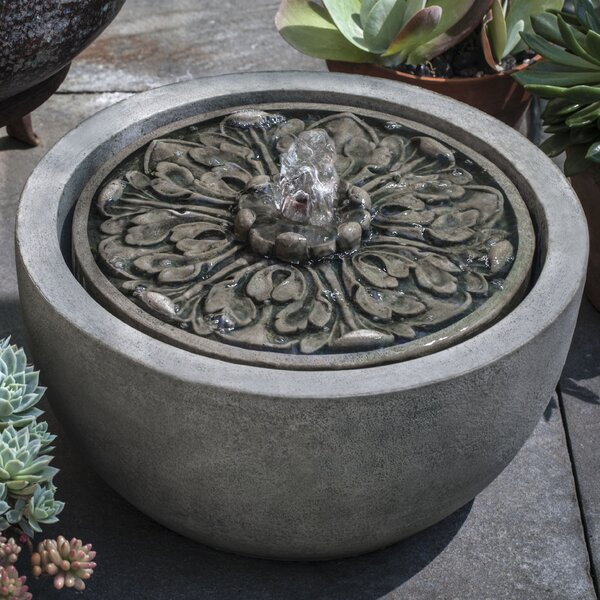 Medallion Concrete Garden Terrace Fountain by Campania International