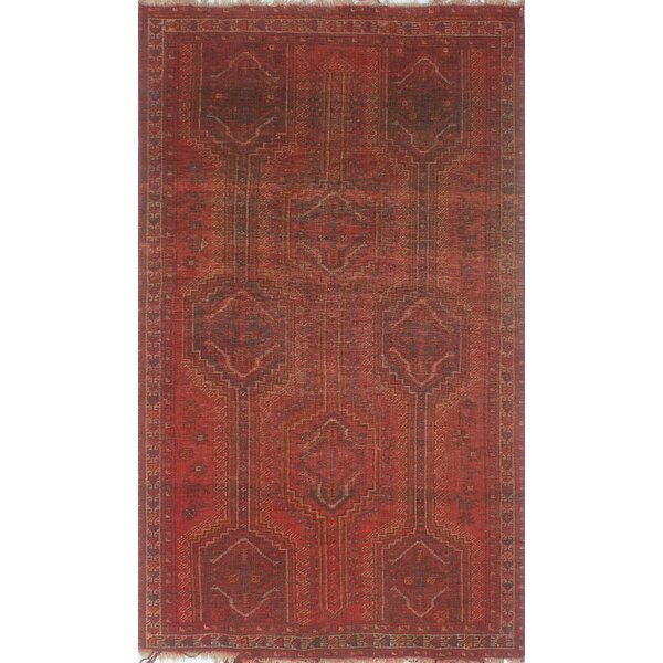One-of-a-Kind Altizer Hand-Knotted Wool Red Are Rug by Isabelline