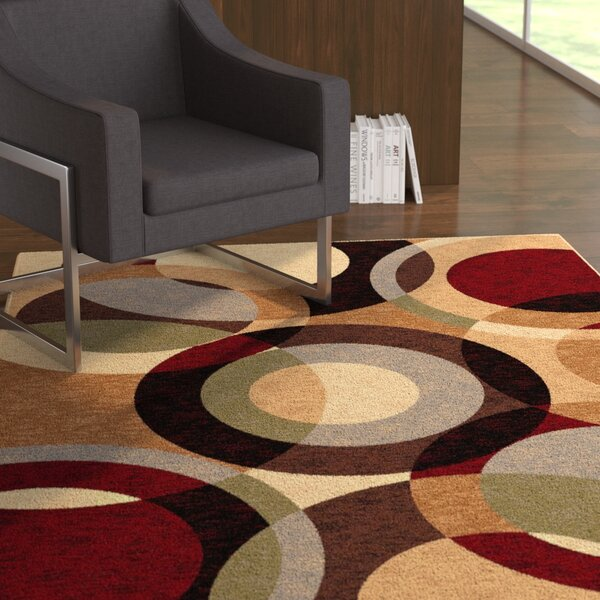 Hartle Brown Area Rug by Ebern Designs