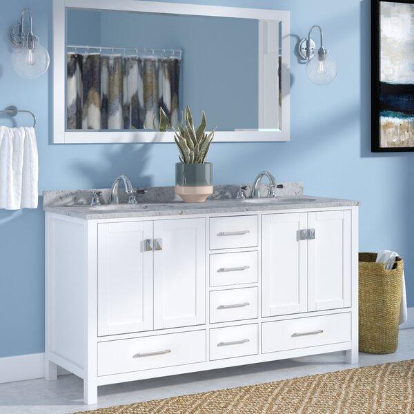 Serigne 61 Double Bathroom Vanity Set with Mirror by Willa Arlo Interiors