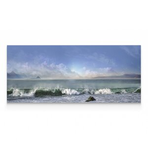 'Breaking Waves' Oil Painting Print on Wrapped Canvas by Highland Dunes