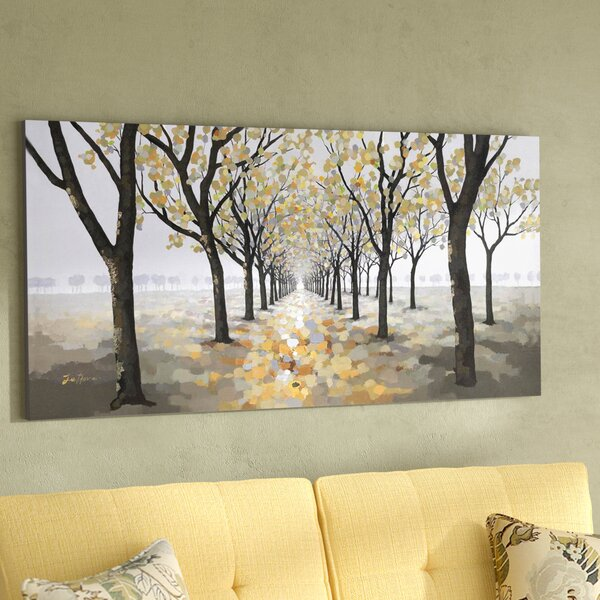 Pathway Painting on Wrapped Canvas by Darby Home Co