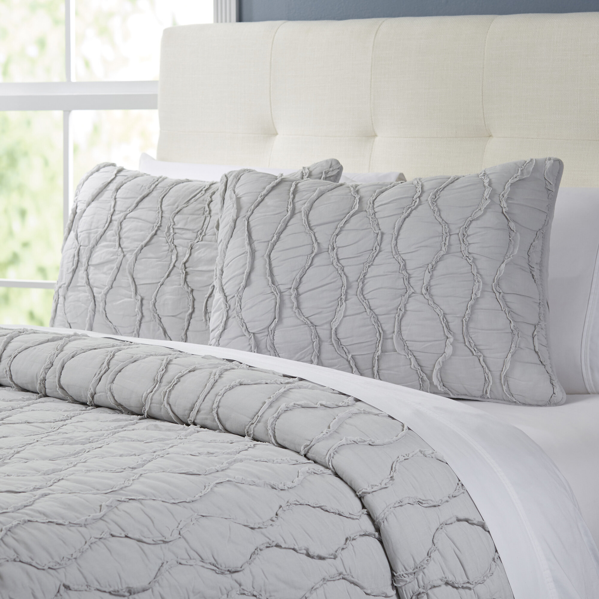walmart com cotton ruffle ruched bedding set white comforter floral ip