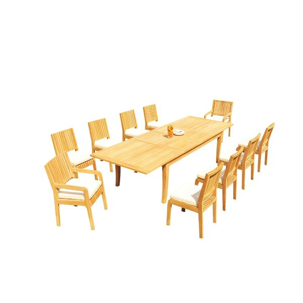 Masson 11 Piece Teak Dining Set