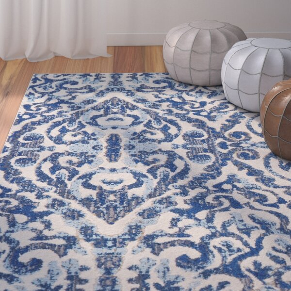 Dunellon Blue Area Rug by Mercury Row