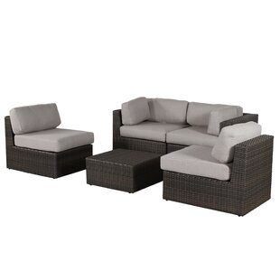 Sabin 5 Piece Sofa Set with Cushions By Rosecliff Heights