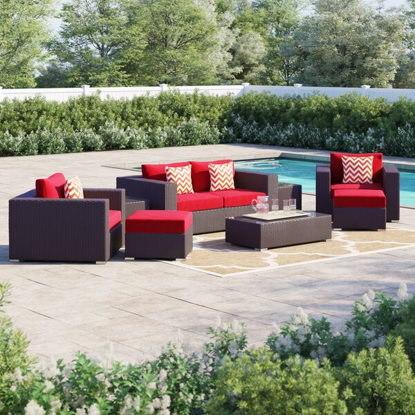 Brentwood 8 Piece Rattan Sectional Seating Group with Cushions by Sol 72 Outdoor