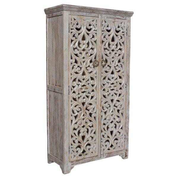 Konen Hand Carved 2 Door Accent Cabinet by Bungalow Rose