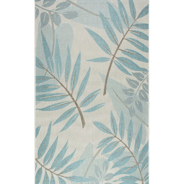 Rowley Teal Indoor/Outdoor Area Rug by Bay Isle Home