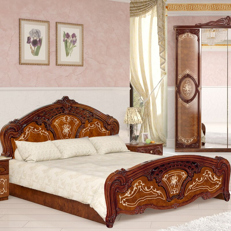 interdesign bett rosa. Black Bedroom Furniture Sets. Home Design Ideas