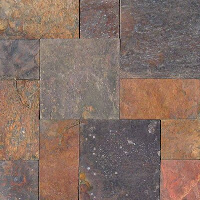 Classic Ashler Gauged Random Sized Natural Stone Field Tile in Orange/Brown by MSI