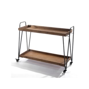 Theodis Wooden Bar Cart