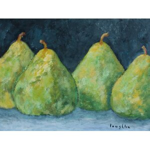 'Pears' by Brendan Loughlin Painting Print on Wrapped Canvas by Buy Art For Less