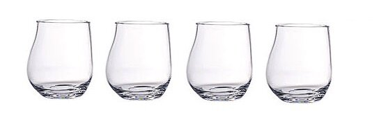 16 oz. Acrylic Belly Tumbler Glass (Set of 4) by Chenco Inc.