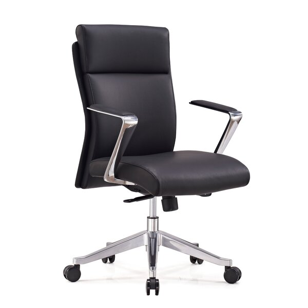 Ensor Genuine Leather Office Chair by Orren Ellis