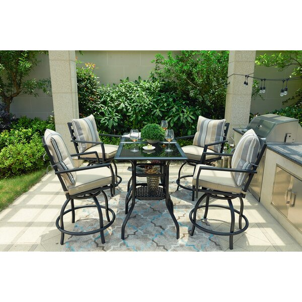 Rosalyn High Swivel 6 Piece Dining Set with Cushions by Alcott Hill